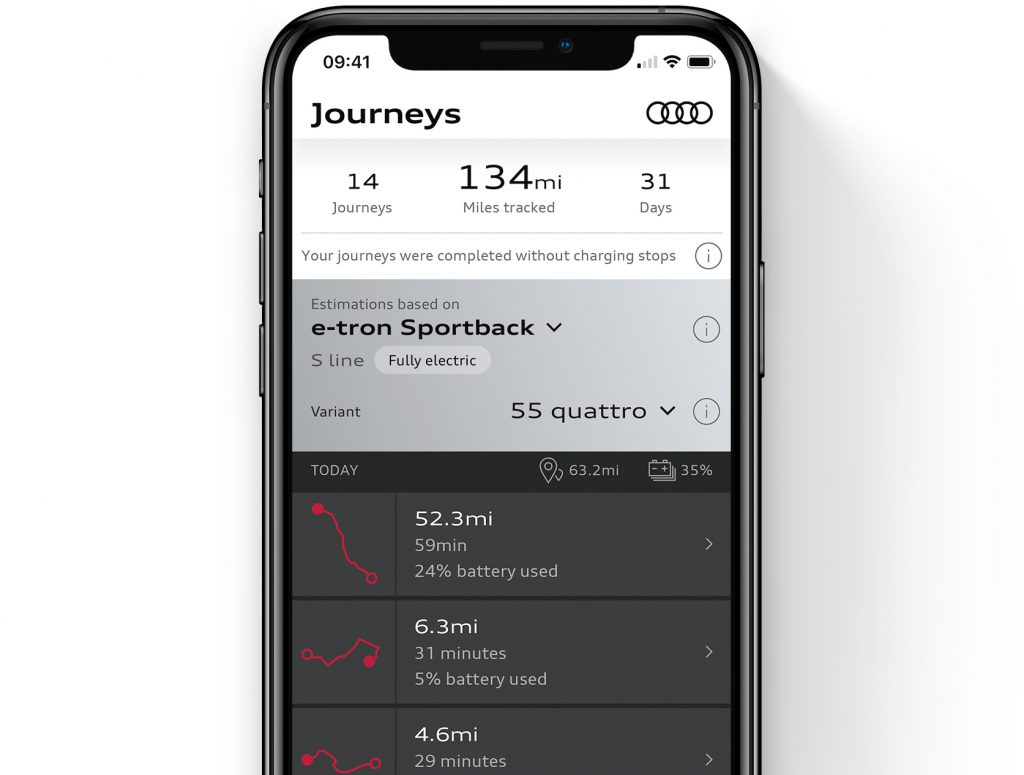 Audi launch update to their App to help you go Electric